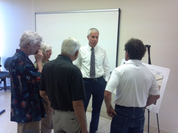 Project Manager Mike Munson discusses the project during the July 31 meeting.